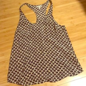 Joie silk tank top with elephant print
